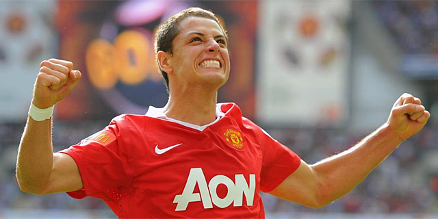 gol chicharito manchester united