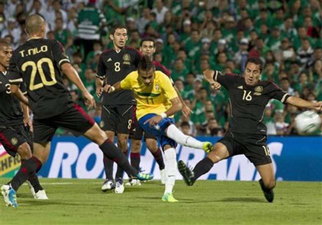 Mexico Brazil Soccer