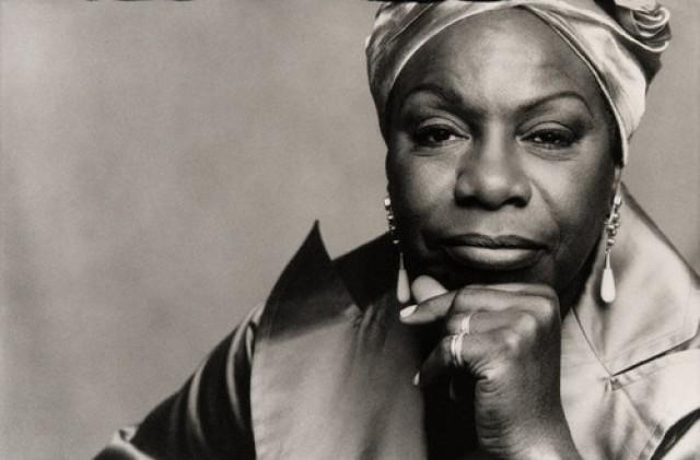 Jazz Singer Nina Simone in Dress and Turban