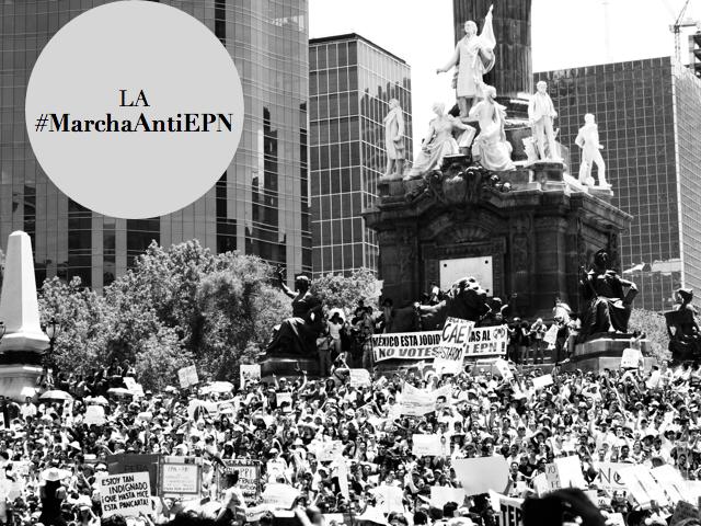 protesta contra peña nieto #marchaantiepn