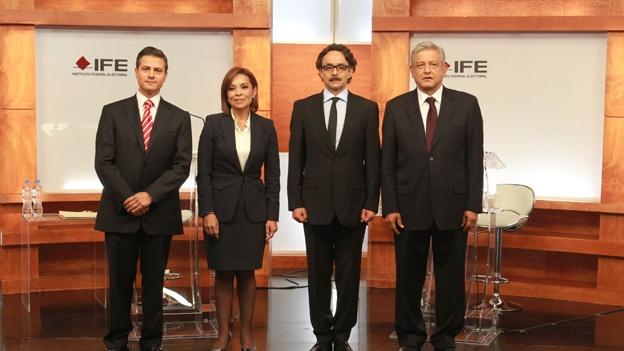 candidatos debate presidencial