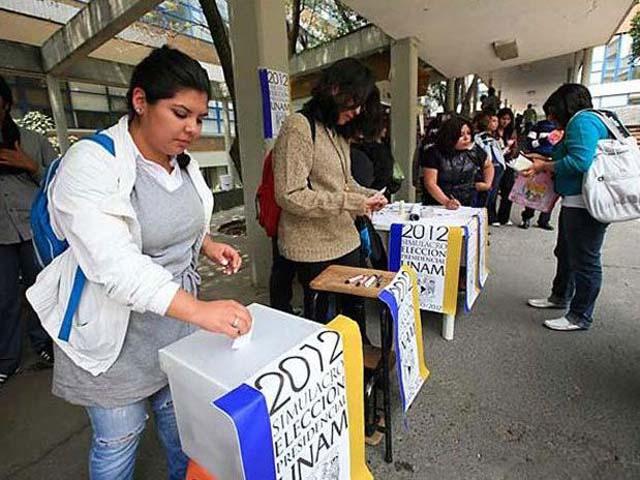 Simulacro electoral UNAM