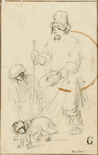 Rembrandt drawing