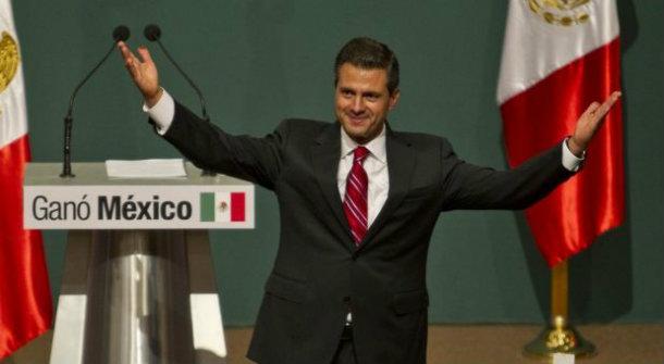 EPN celebrando presidencia