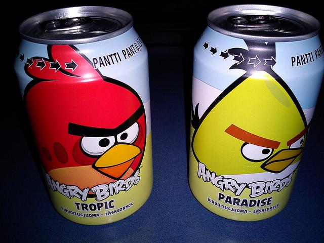 Angry birds bebida