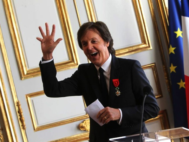 Paul McCartney y François Hollande2