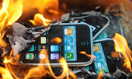 quema de iphone rabino