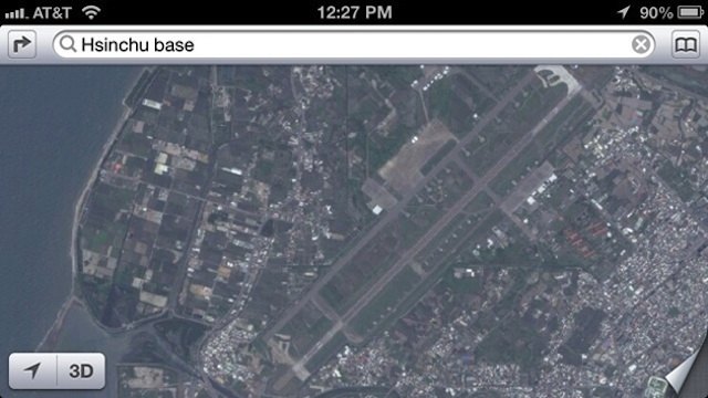 Base militar en los mapas de Apple