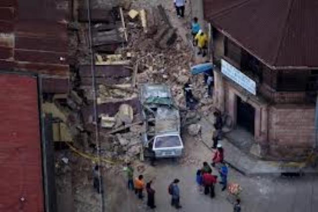 El terremeto de Guatemala produjo muchos desperfectos