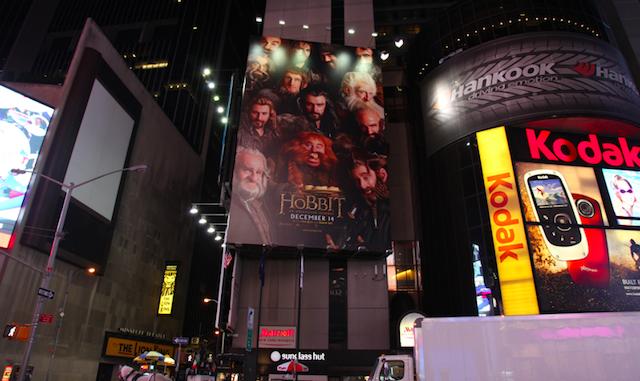 El hobbit poster en Nueva york