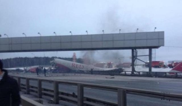 Avión se estrella en Rusia