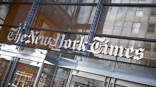 New York Times' Quarterly Profits Falls 58 Percent