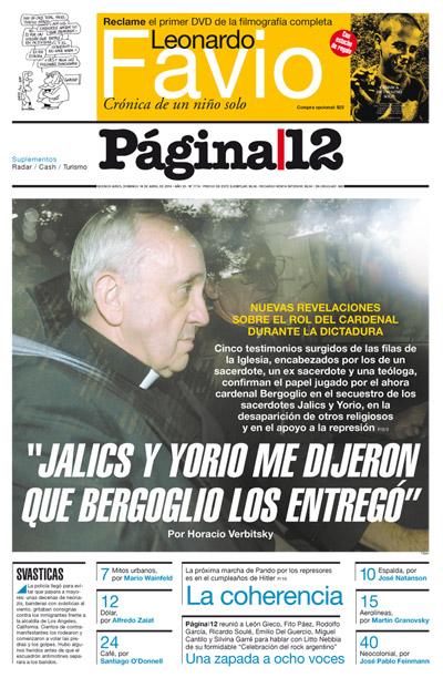 pagina 12 papa dictadura