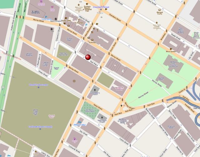 Zona donde se hizo el hallazgo. Manhattan, Nueva York.