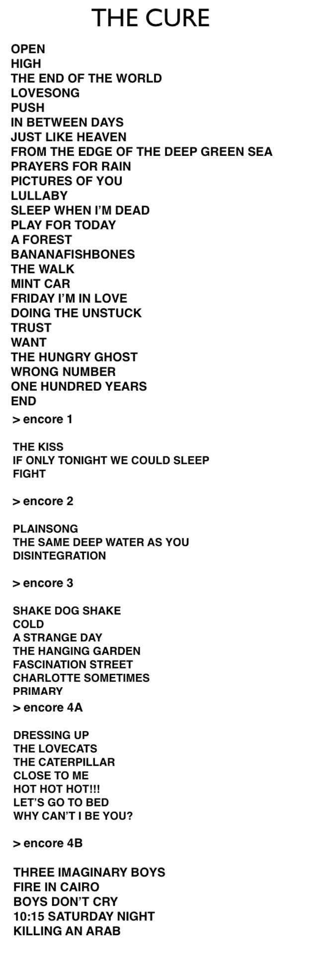 THE-CURE-MEXICO-SETLIST-2013