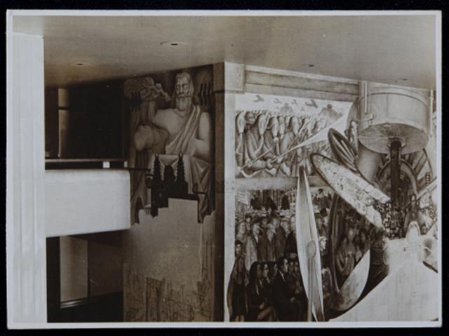 mural diego rivera bocetos f