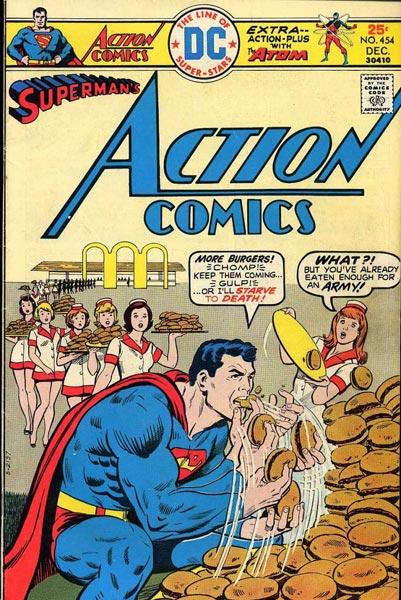 Superman contra las hamburguesas
