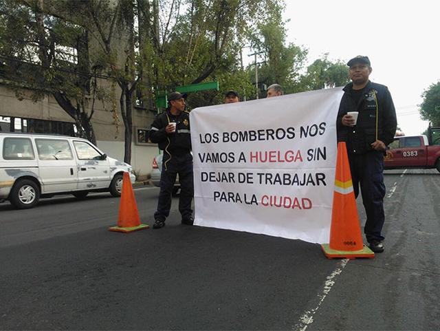 bomberos huelga protestas
