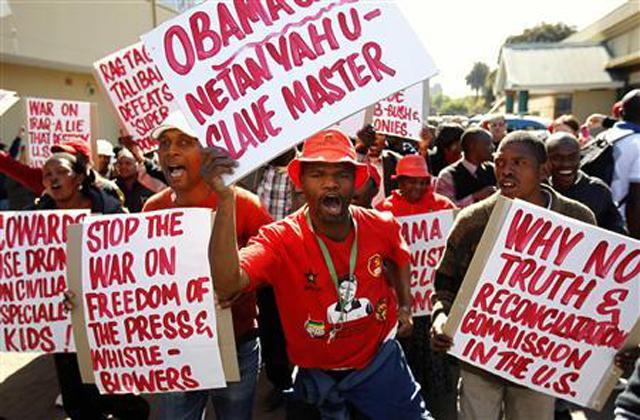 protestas contra obama sudafrica