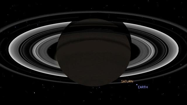 Saturno-y-la-Tierra