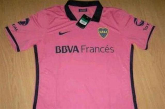 camiseta rosa boca
