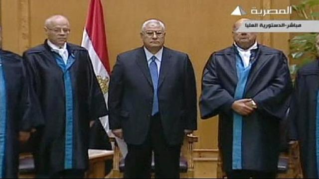 presidente interino egipto