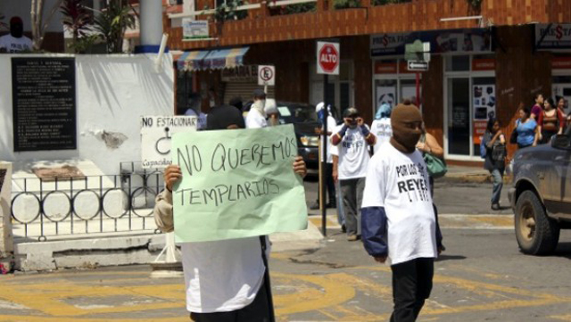 protestas michoacan templarios