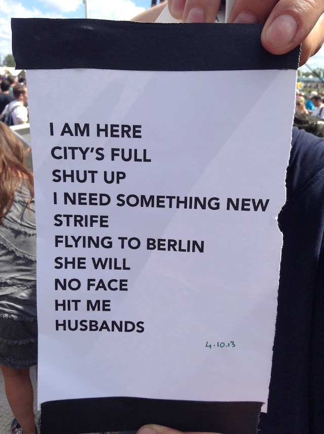 Savages set list acl