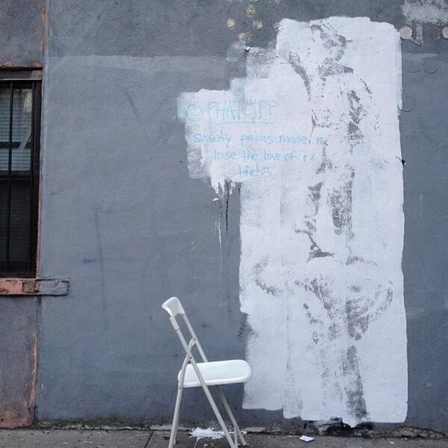 banksy pintura gris