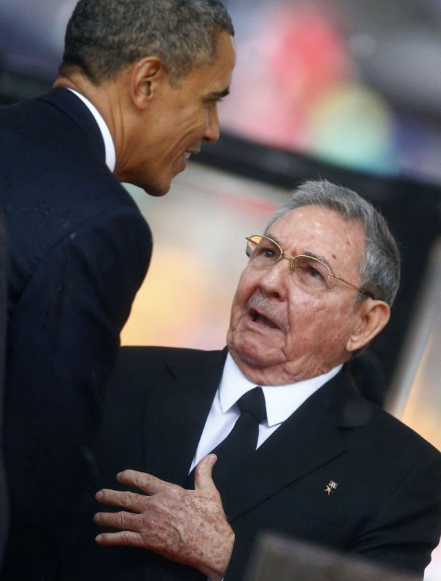 castro obama funerales madiba