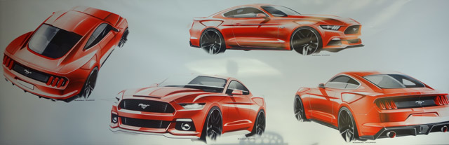 Ford-Mustang-Sketch