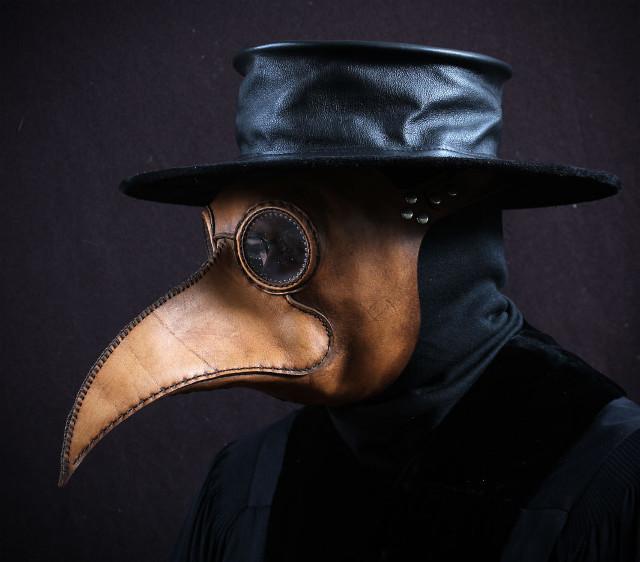 máscara de la plaga