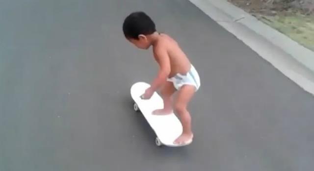 patinador en pañales