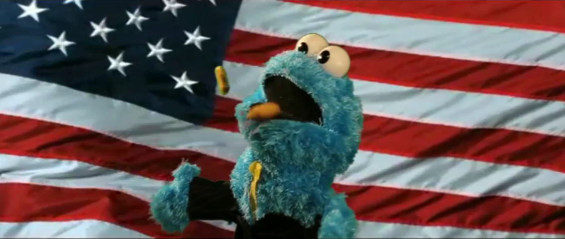 muppets come galletas bandera estados unidos