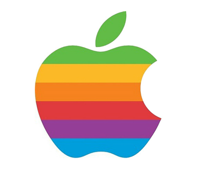 apple logo colores