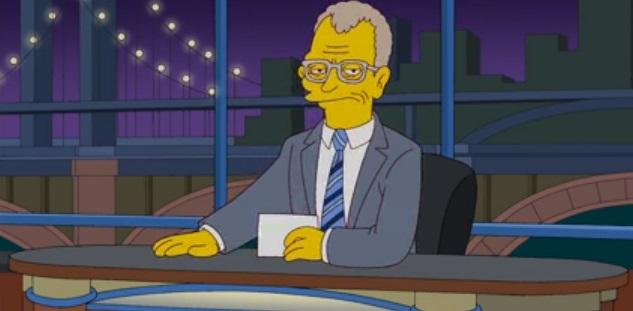 david letterman simpsons