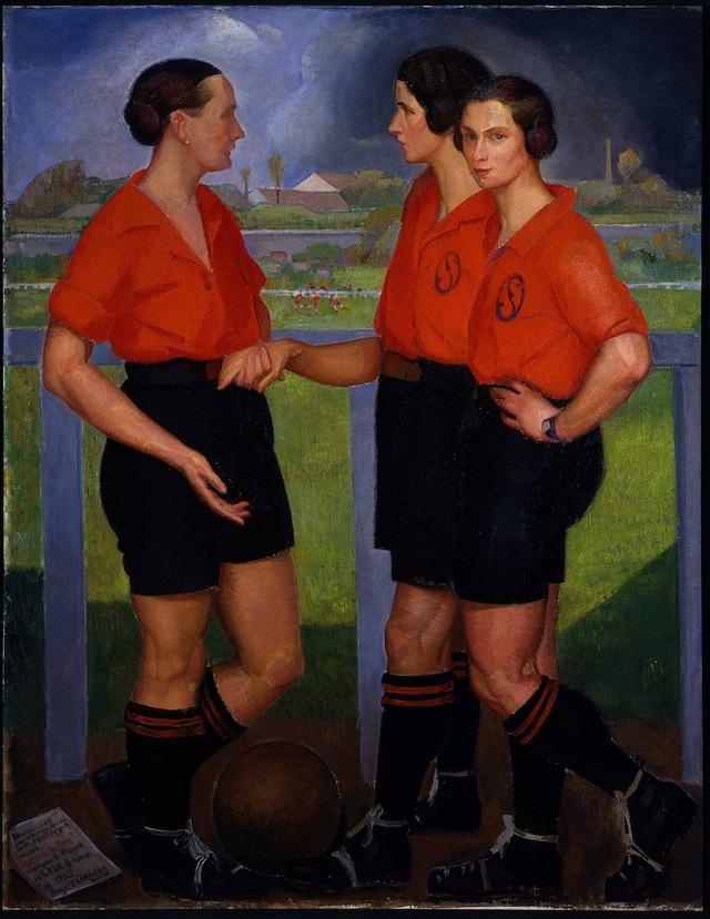 Spirit of Football %C3%81ngel-Z%C3%A1rraga-Las-futbolistas-1922-%C3%B3leo-sobre-tela-Museo-de-Arte-Moderno-INBA