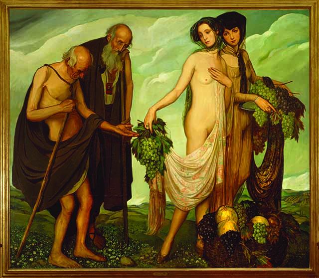 Aěngel Zaěrraga, La daědiva, 1910, oěleo sobre tela, Museo Nacional de Arte INBA