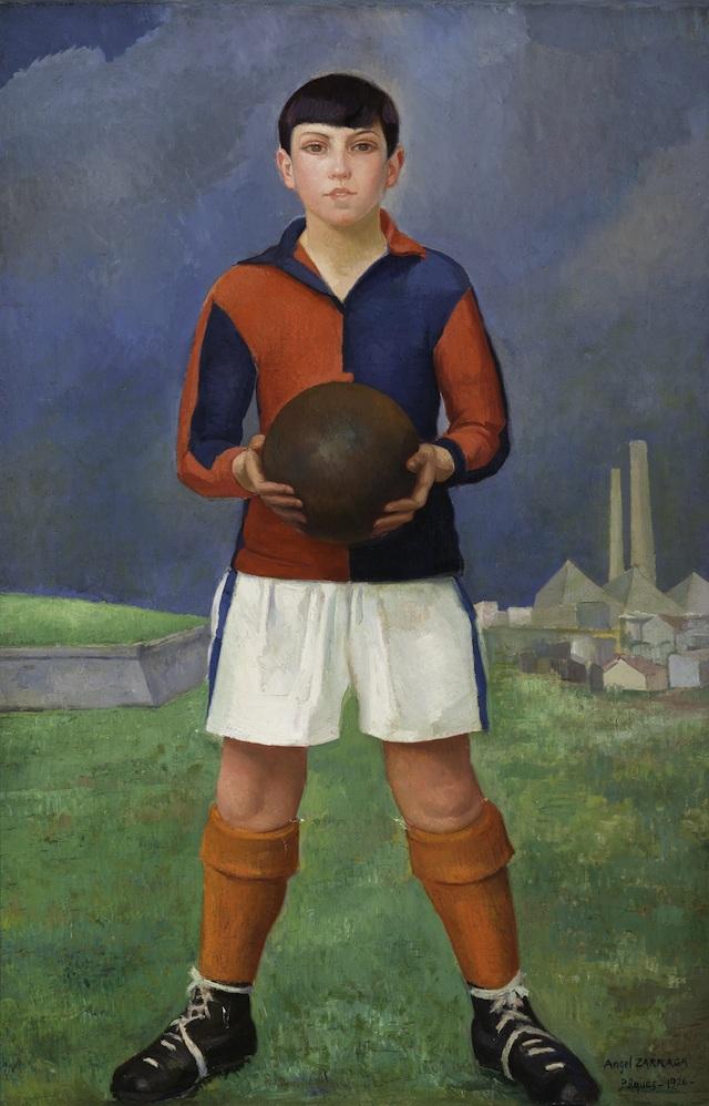 Joven futbolista, 1926, óleo sobre tela, colección particular
