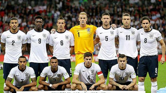 seleccion inglesa 2014