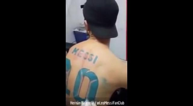 tatuaje messi