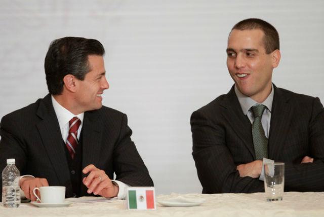Enrique Peña Nieto y Jorge Emilio González