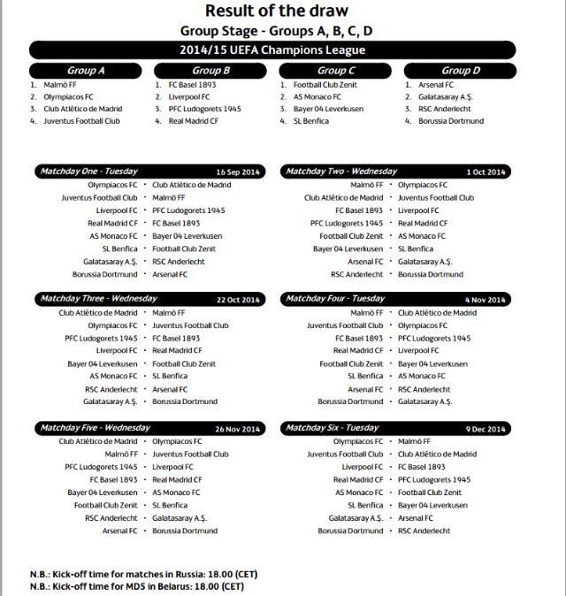 calendario champs parte 1