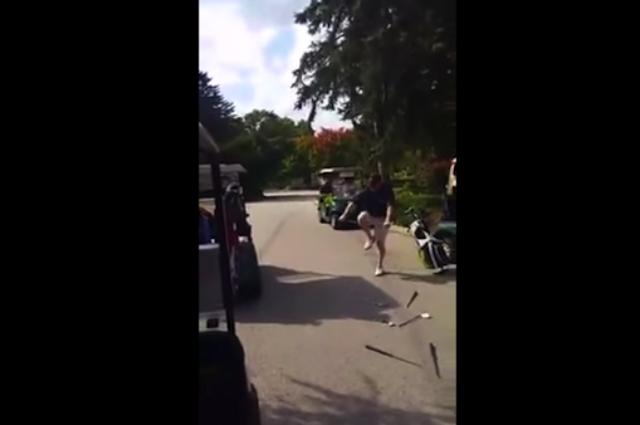 golfista enojado