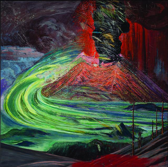 12_Erupción del Paricutín (Explosión  lateral en el anverso)