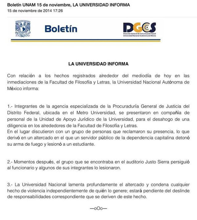 Boletin-UNAM-Balacera