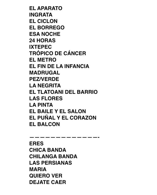 Setlist-Tacuba