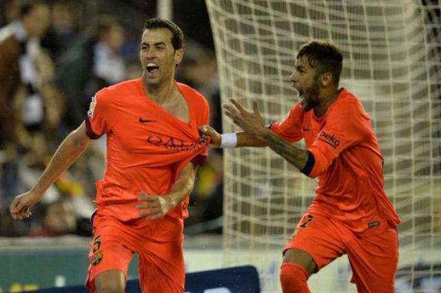 busquets gol vs valencia