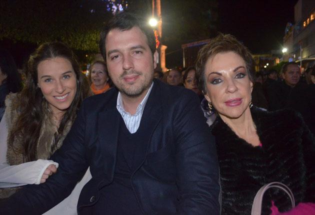 Luca Velázquez, Fernando Bribiesca y Marta Sahagún de Fox.