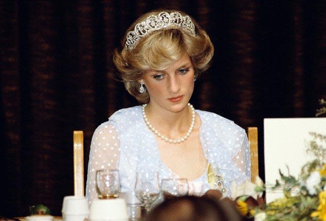 Princess Diana Attending Dinner Banquet